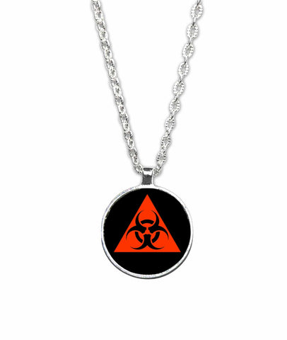 Biohazard Symbol 1 inch Pendant Necklace