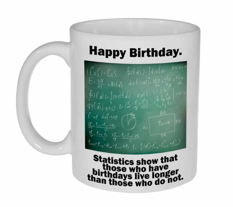 Funny Birthday Statistics Coffee or Tea Mug