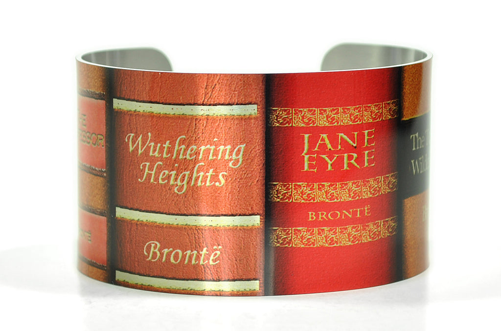 Charlotte, Emily and Anne Bronte Sisters Books Cuff Bracelet