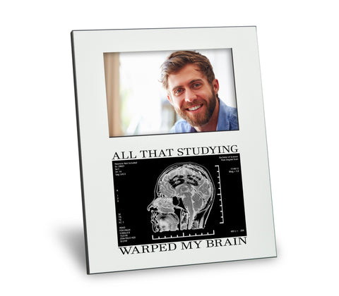 BS Degree Picture Frame - All That Studying Warped My Brain