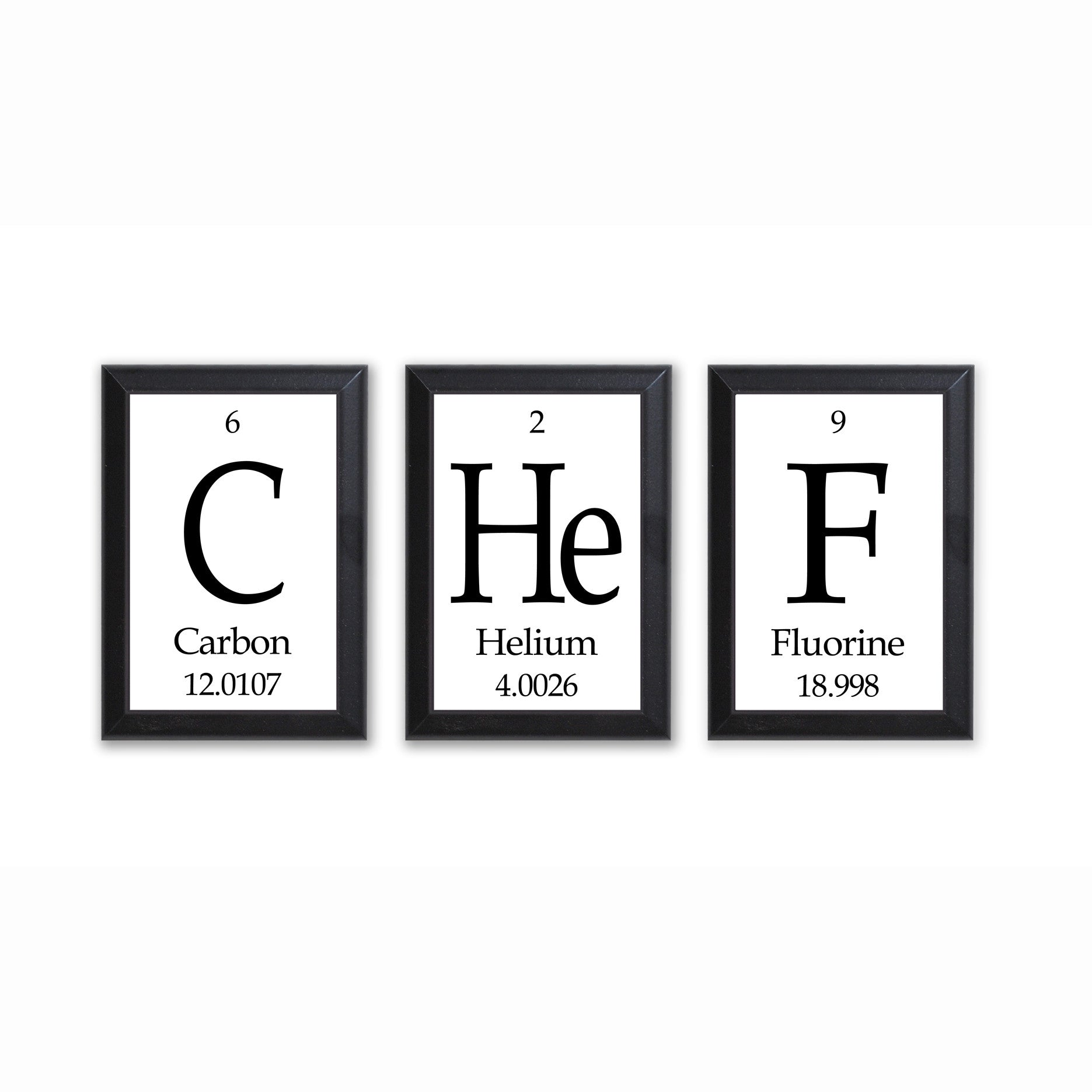 Chef periodic table framed 3 piece wall plaque set geeky home chef periodic table framed 3 piece wall plaque set geeky home decor urtaz Choice Image