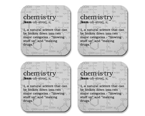 Chemistry Definition Neoprene Coaster Set