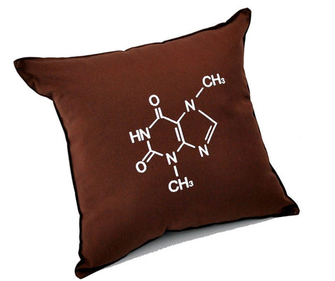 Chocolate Molecular Structure Embroidered Pillow