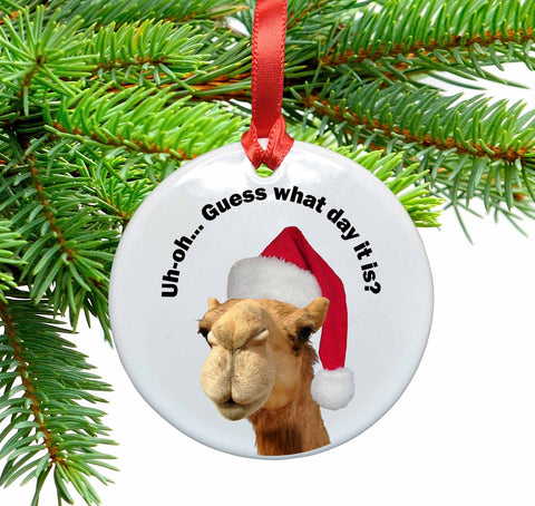 Guess What Day It Is? Ceramic Christmas Ornament