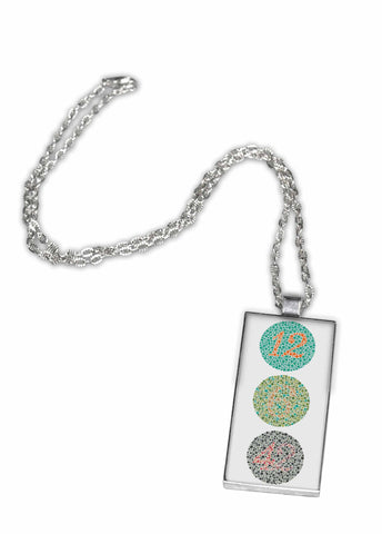 Color Blindness Test - Pendant Necklace