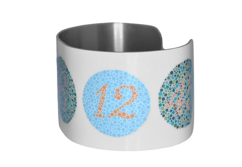 Color Blindness Test Patterns Image Aluminum Cuff