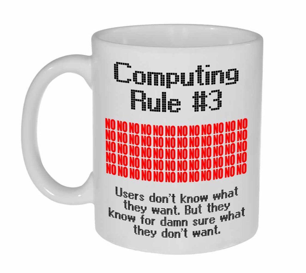 Computing Rule #3 Funny Programming Coffee or Tea Mug