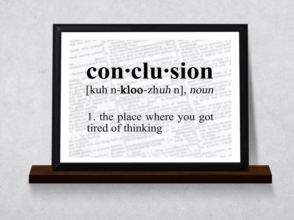 Image Result For Definition Of Conclusion Typography Wall Plaque Quotes For Math Teachers