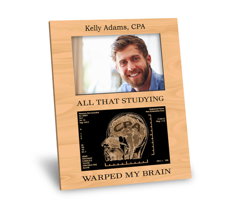 CPA Picture Frame - All That Studying Warped My Brain