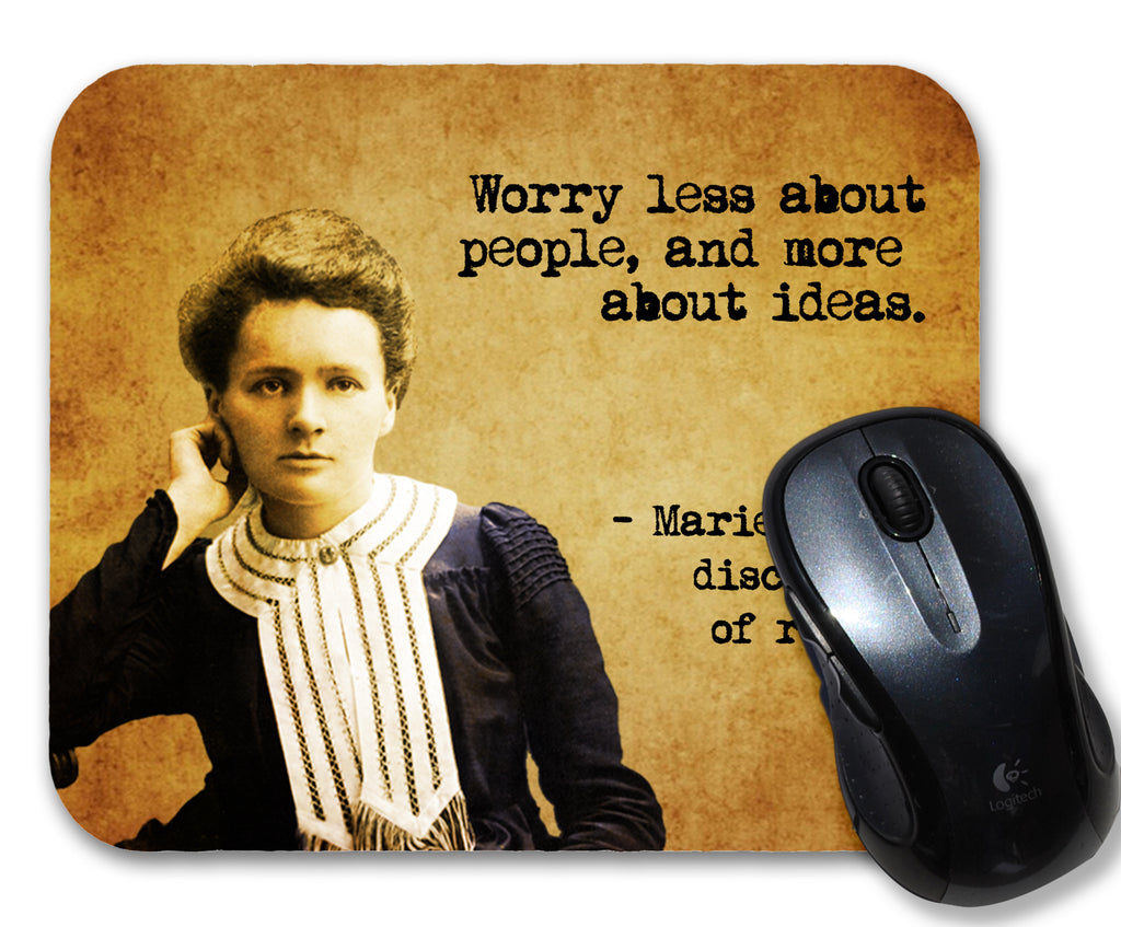Marie Curie Quote Mouse Pad