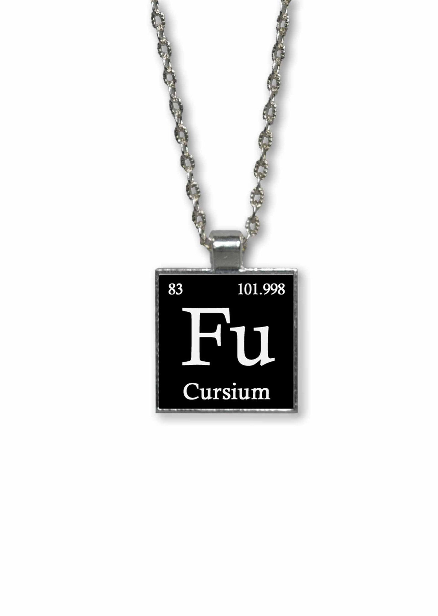 Funny made up periodic table elements 1 inch square pendant funny made up periodic table elements pendant necklace fu cursium urtaz Image collections