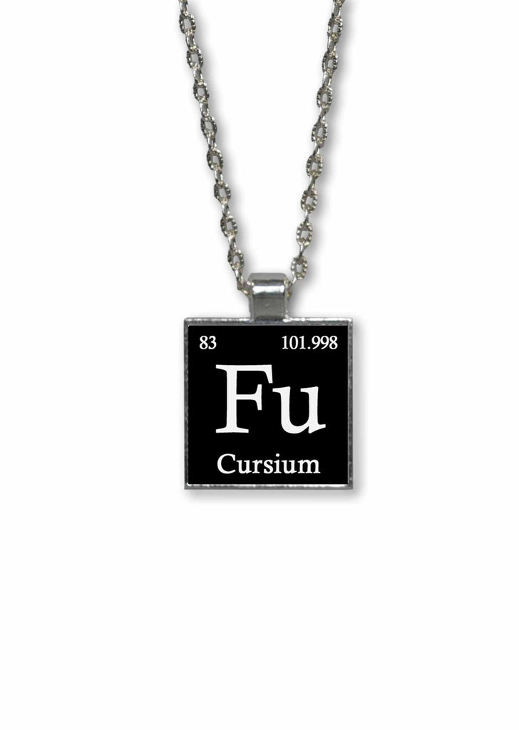 Funny Made Up Periodic Table Elements  Pendant Necklace -Fu - Cursium