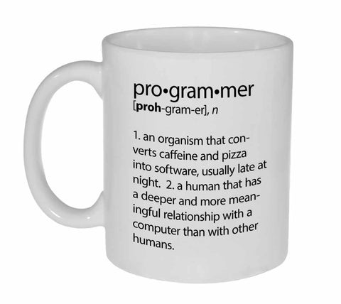 Programmer Definition Coffee or Tea Mug