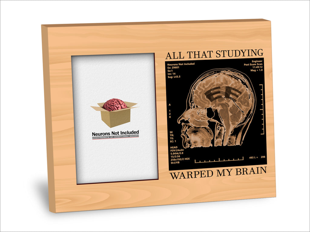EE Degree Picture Frame - All That Studying Warped My Brain
