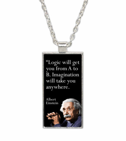 Albert Einstein Famous Scientist Quote  Pendant Necklace