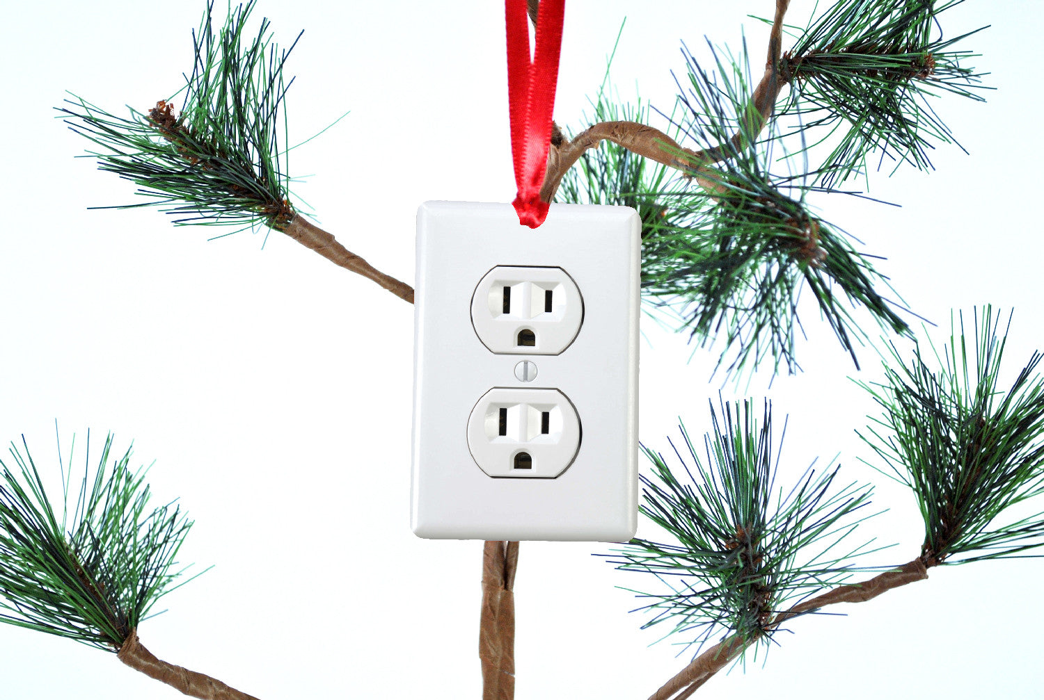 Funny Christmas Tree Decorations Part - 45: Electrical Outlet Funny Christmas Tree Ornament