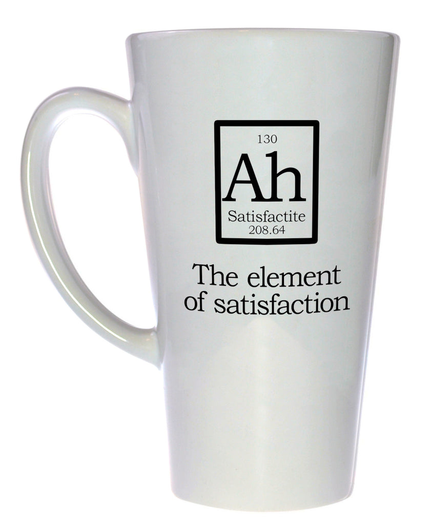 Element of Satisfaction Fake Periodic Table Chemistry Elements, Latte Size