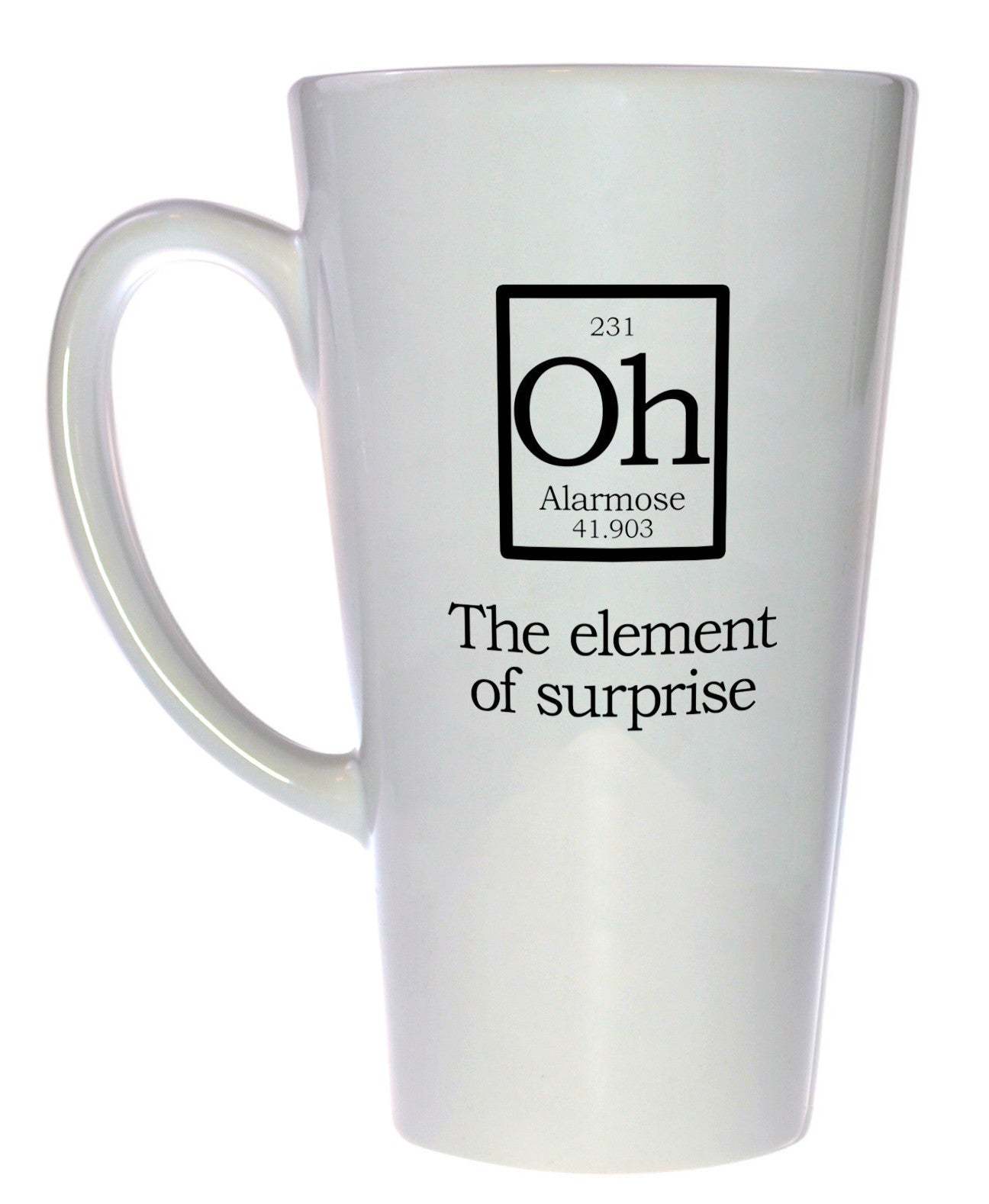 Element of surprise mug fake periodic table chemistry elements element of surprise mug fake periodic table chemistry elements latte size gamestrikefo Image collections