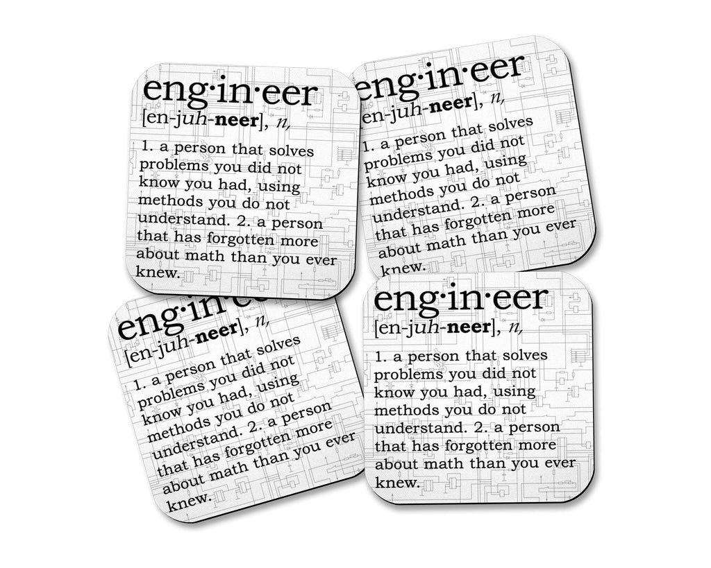 Engineer Definition Neoprene Coaster Set