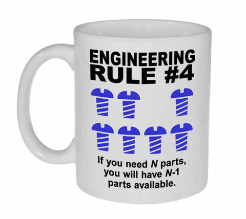 Engineering Rule #4 Coffee or Tea Mug