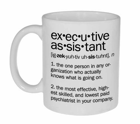 Executive Assistant Definition Coffee or Tea Mug