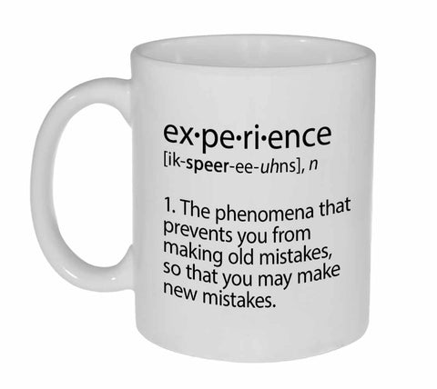 Experience Definition Funny Coffee or Tea Mug