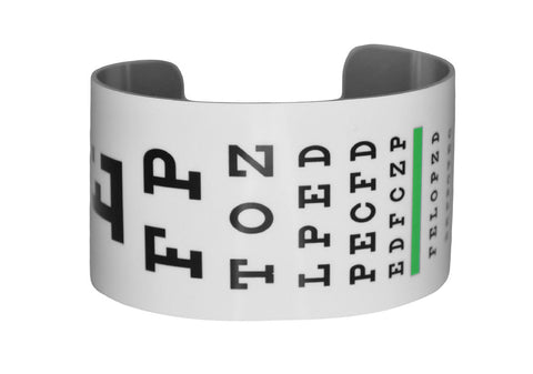 Eye Chart Vision Test Image Aluminum Cuff