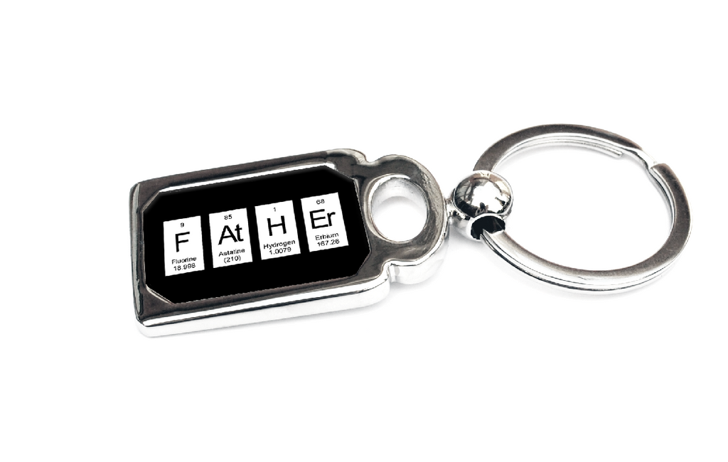 Father Keyring - Periodic Table of Elements Spelling Father
