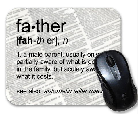 Father Definition Funny  Mouse Pad
