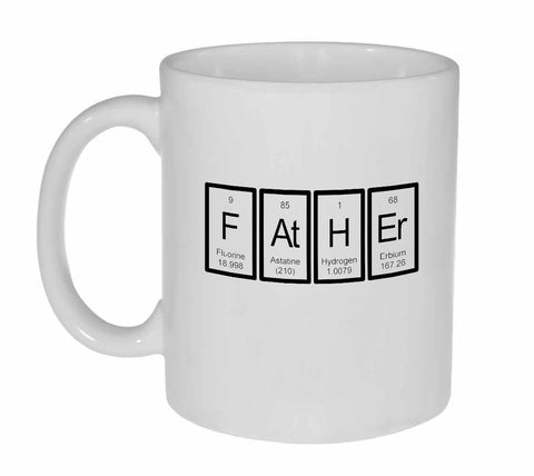 Father Periodic Table of Elements Coffee or Tea Mug