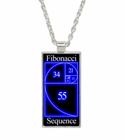 Fibonacci Golden Ratio  Pendant Necklace