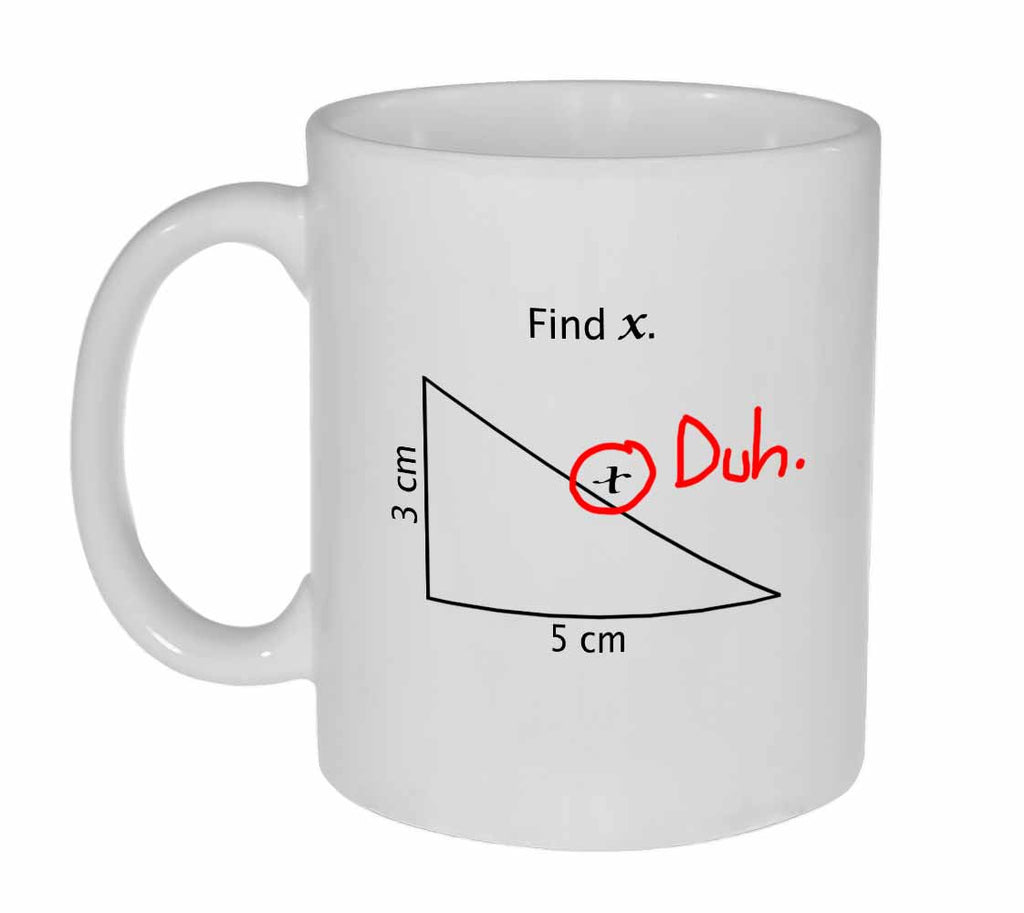Find X Funny Coffee or Tea Mug - Perfect Math Teacher Gift