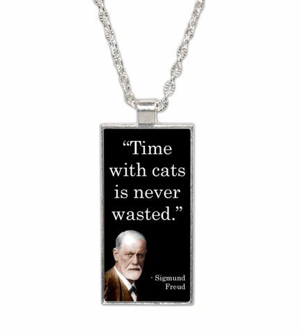 Sigmund Freud Famous Scientist Quote  Pendant Necklace