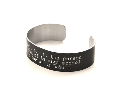 Funny Geek Definition Aluminium Geek Bracelet Jewelry