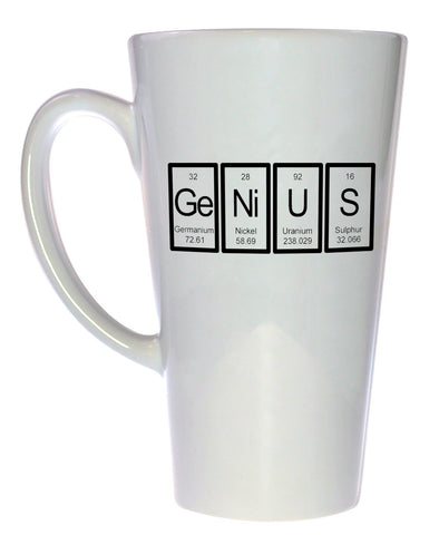 Genius Periodic Table of Elements Coffee or Tea Mug, Latte Size