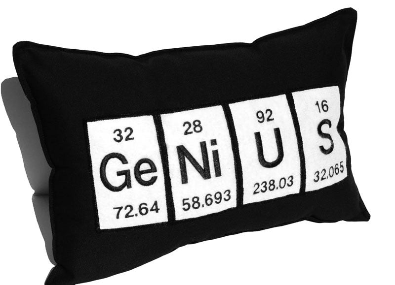 genius periodic table pillow