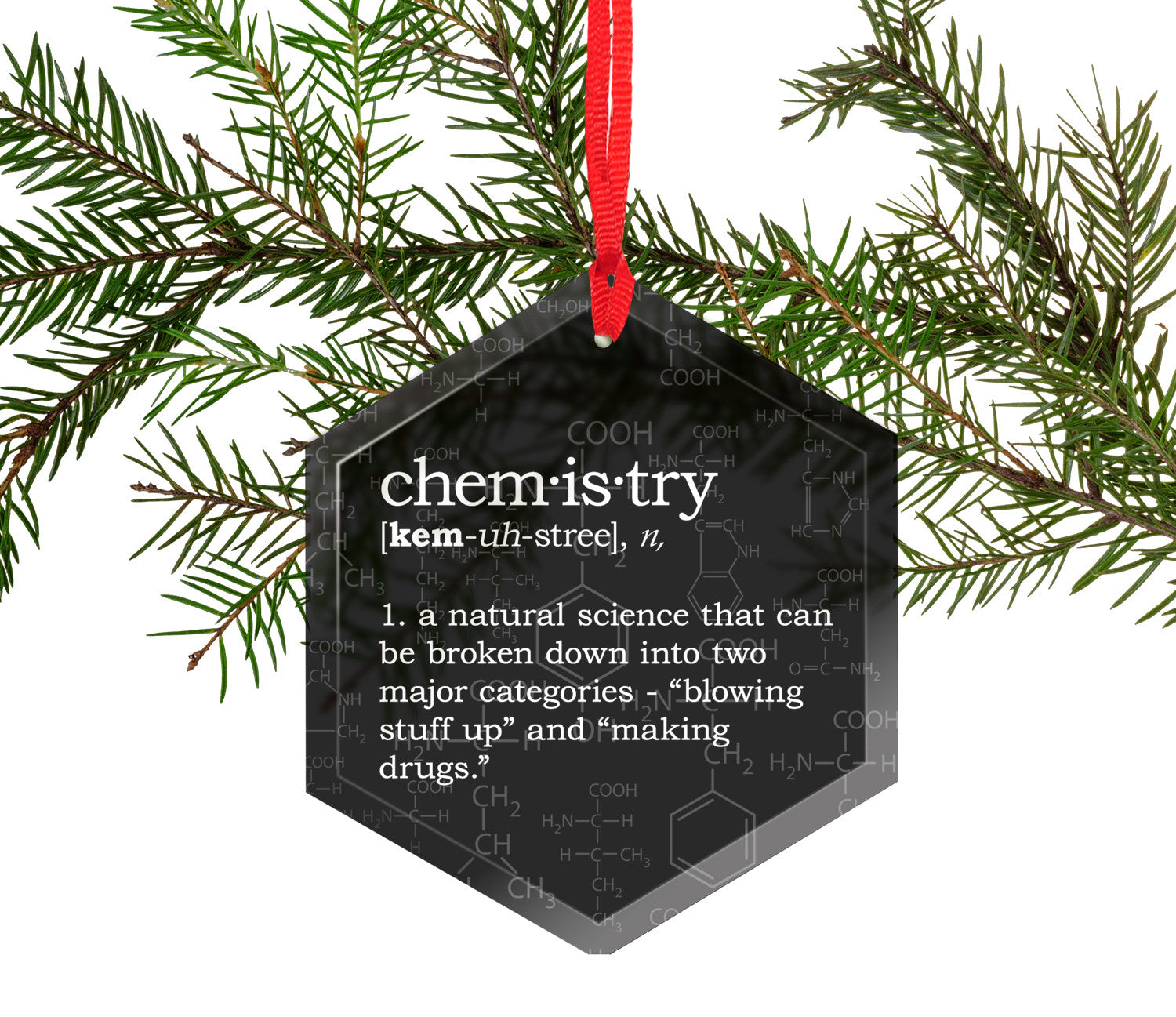 Funny definition of chemistry glass christmas tree for Decoration definition