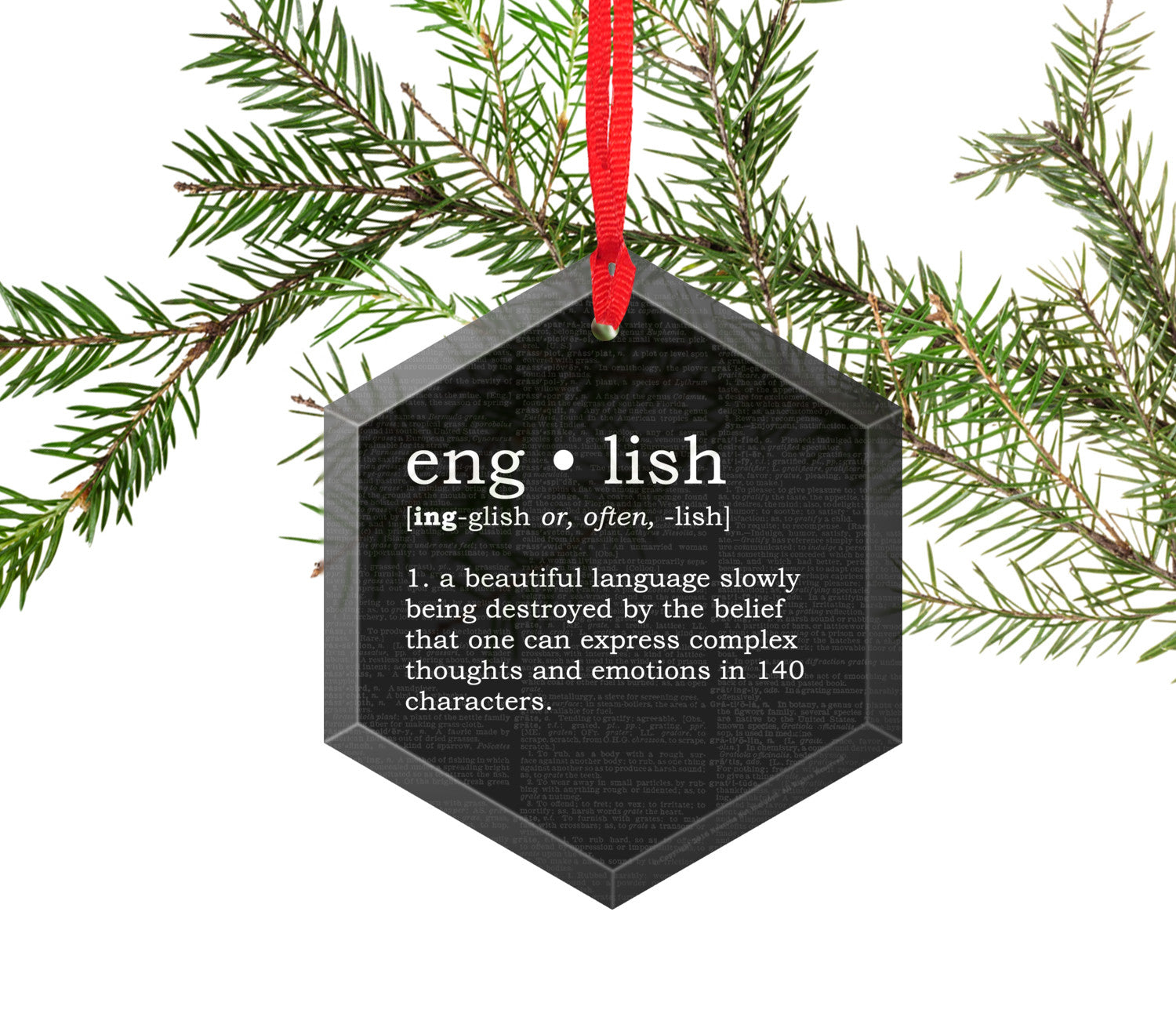english definition funny glass christmas ornament - What Is The Definition Of Christmas