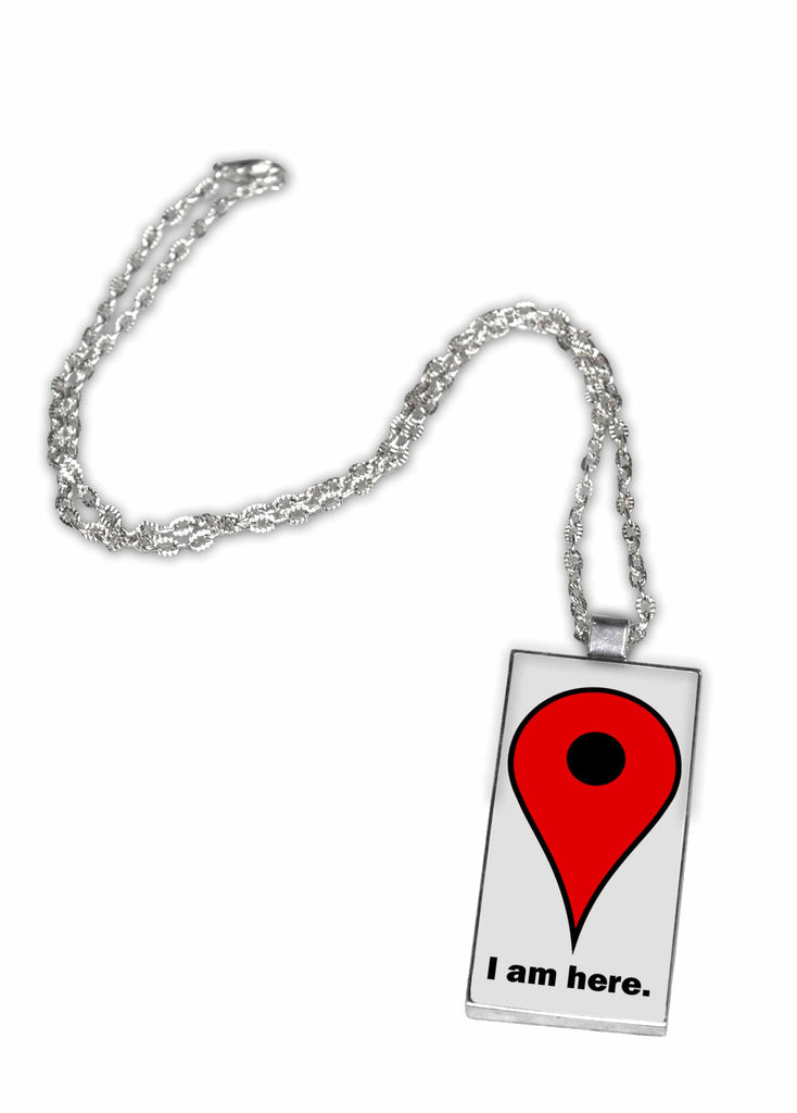 Google Maps Pin Pendant Necklace - I Am Here – Neurons Not