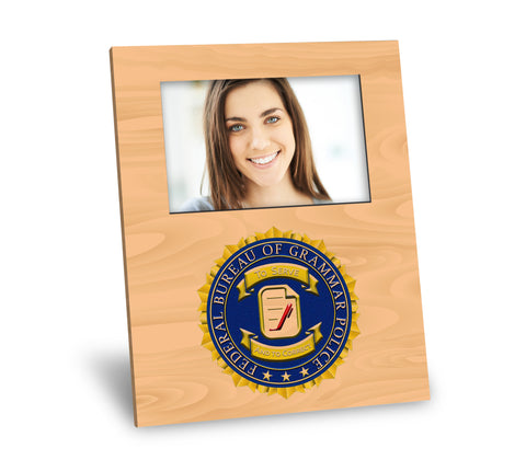 Grammar Police Picture Frame