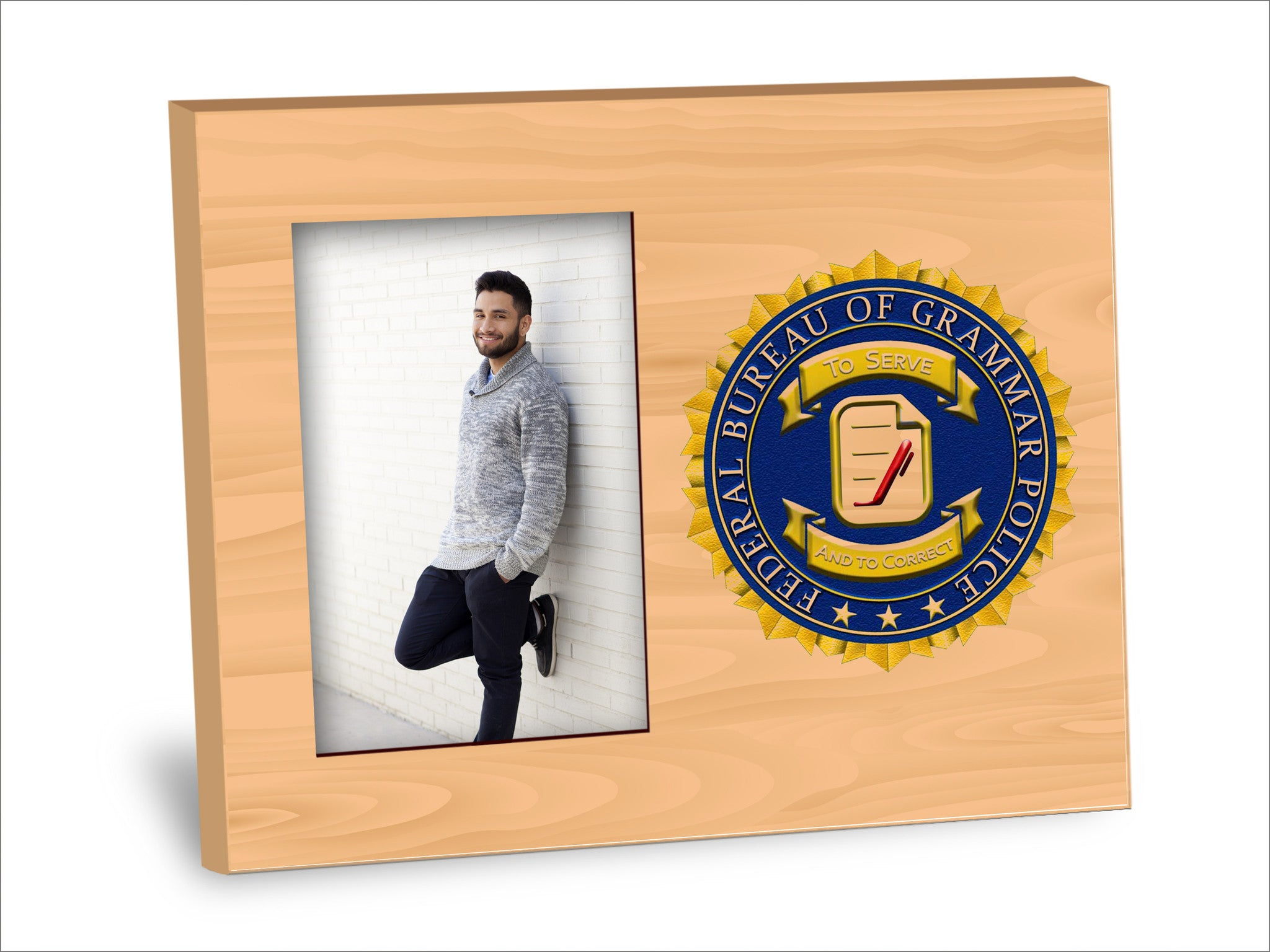 Grammar Police Picture Frame – Neurons Not Included™