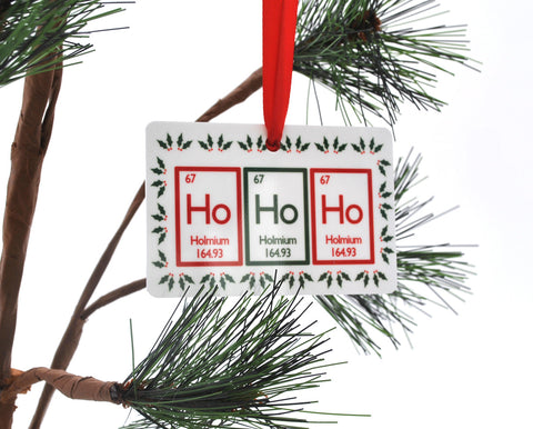 Ho Ho Ho Periodic Table Christmas Ornament