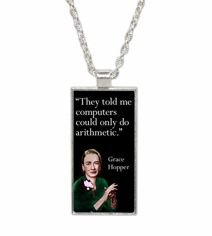 Grace Hopper Famous Women Scientist  Pendant Necklace