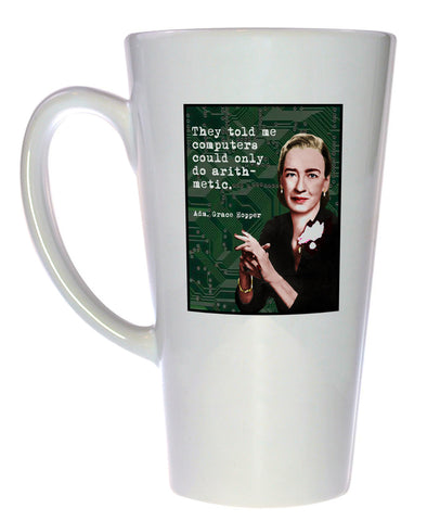 Grace Hopper - Famous Scientists Series Coffee or Tea Mug, Latte Size