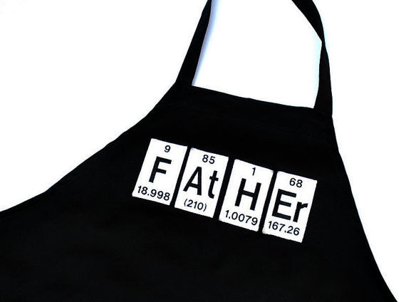 Father Periodic Table Embroidered Adjustable Apron