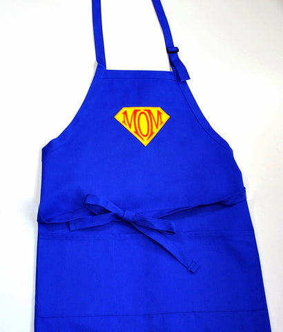 Super Mom Super Hero Embroidered Adjustable Apron