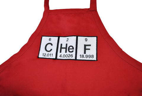 Chef Periodic Table Embroidered Adjustable Apron - Grilling Apron