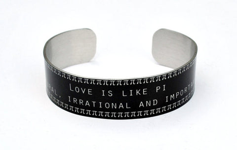 love is like pi bracelet