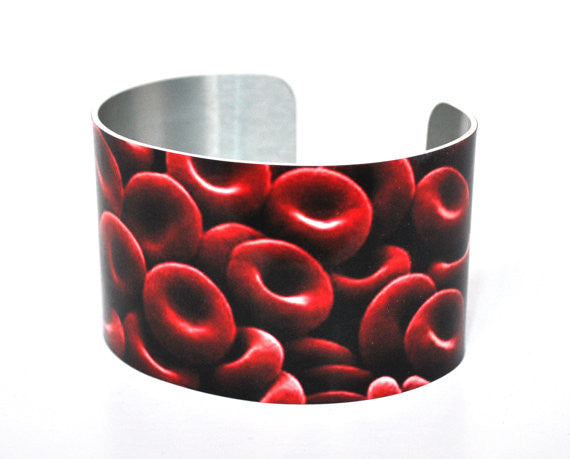 Science Red Blood Cell Image Aluminium Cuff
