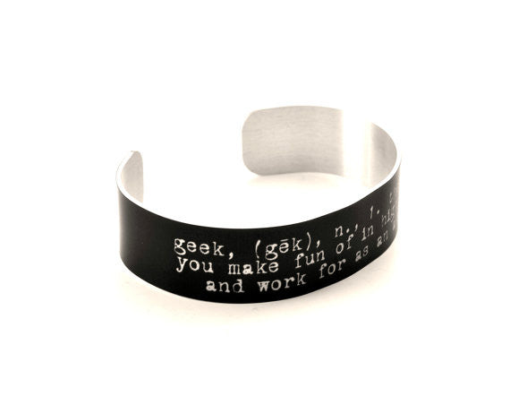 Geek definition Aluminum Bracelet